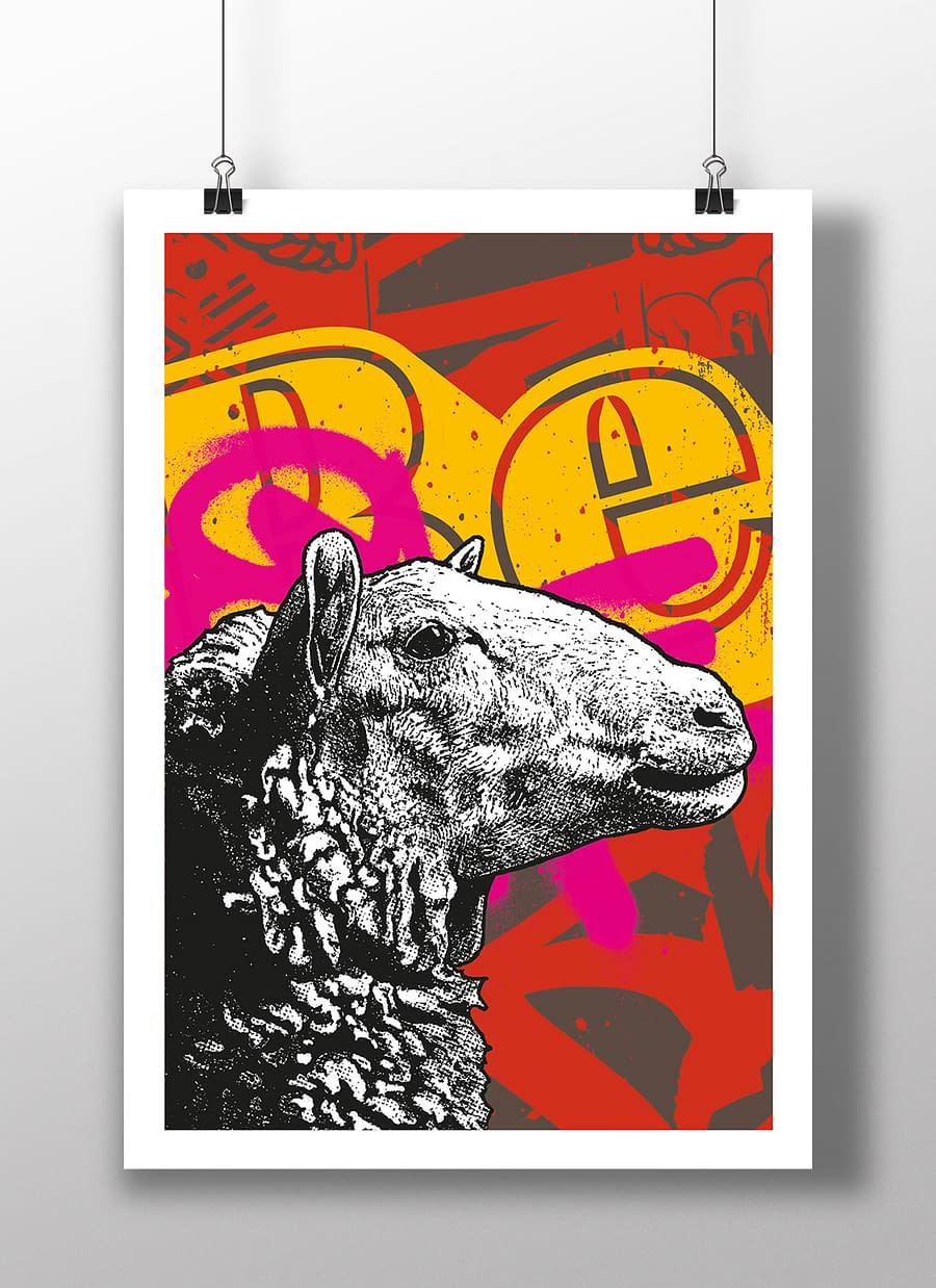 poster sheep BE