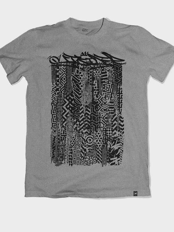 Outsider Patterns heather grey T-shirt