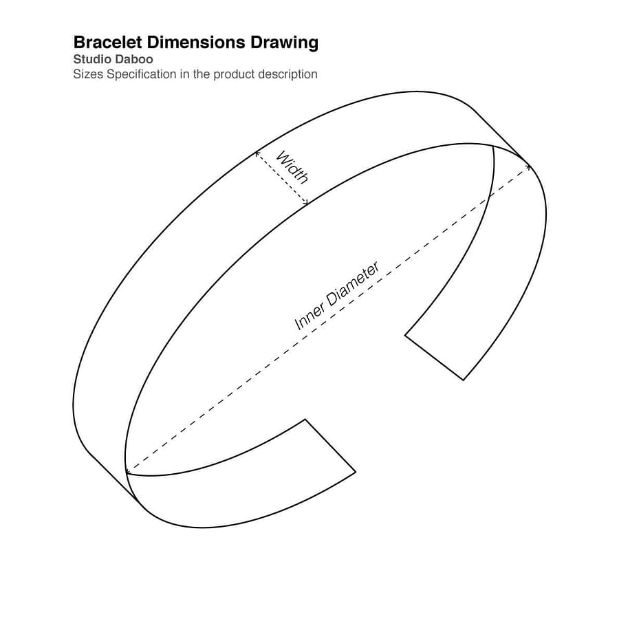 Bracelet Tech Drawing