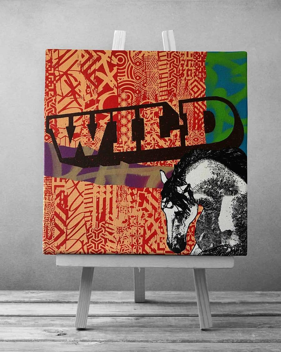 Canvas Horse Wild