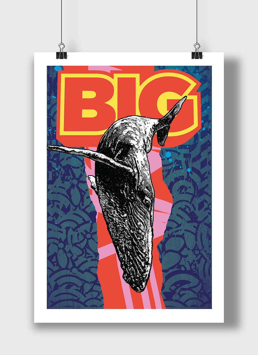 poster whale big