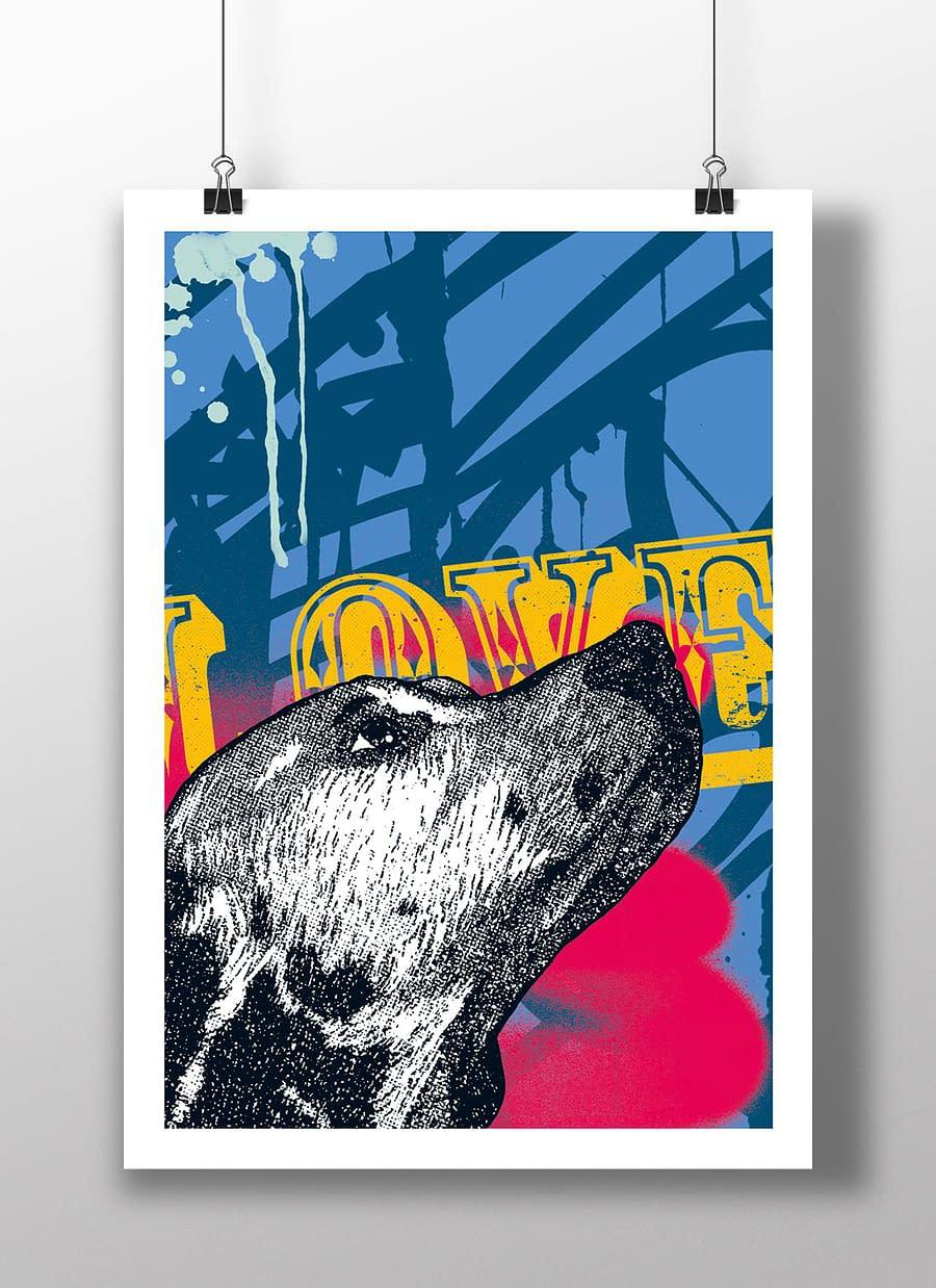 poster dog love