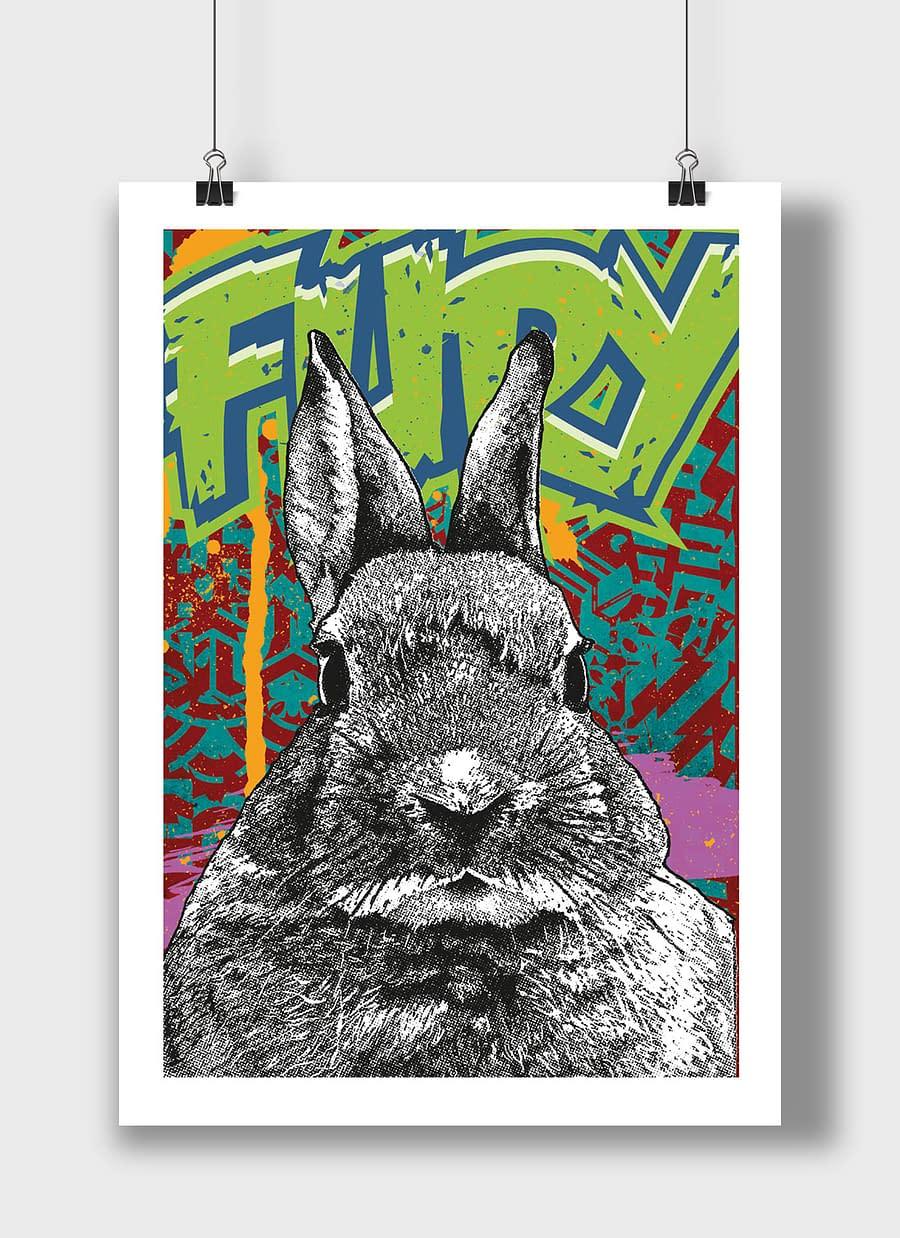 poster rabbit fury